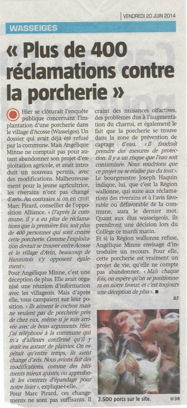 article porcherie